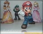 Mario, Peach, Daisy and Luigi.