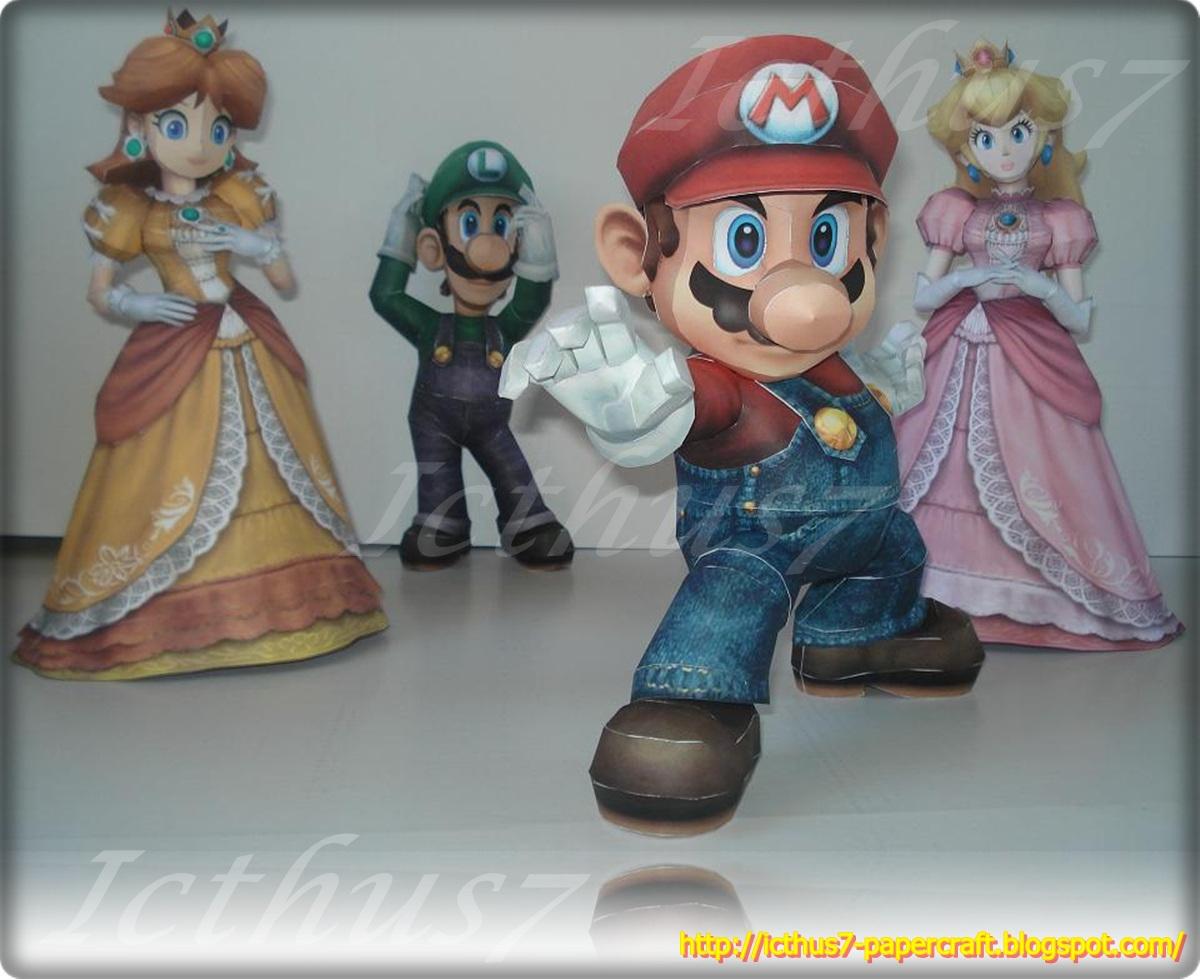 Mario, Peach, Daisy and Luigi. by enrique3