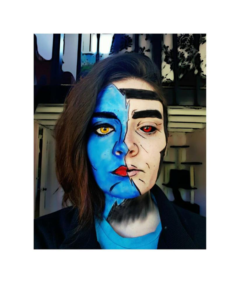 gambit/Mystique makeup  by Thesuperninjax