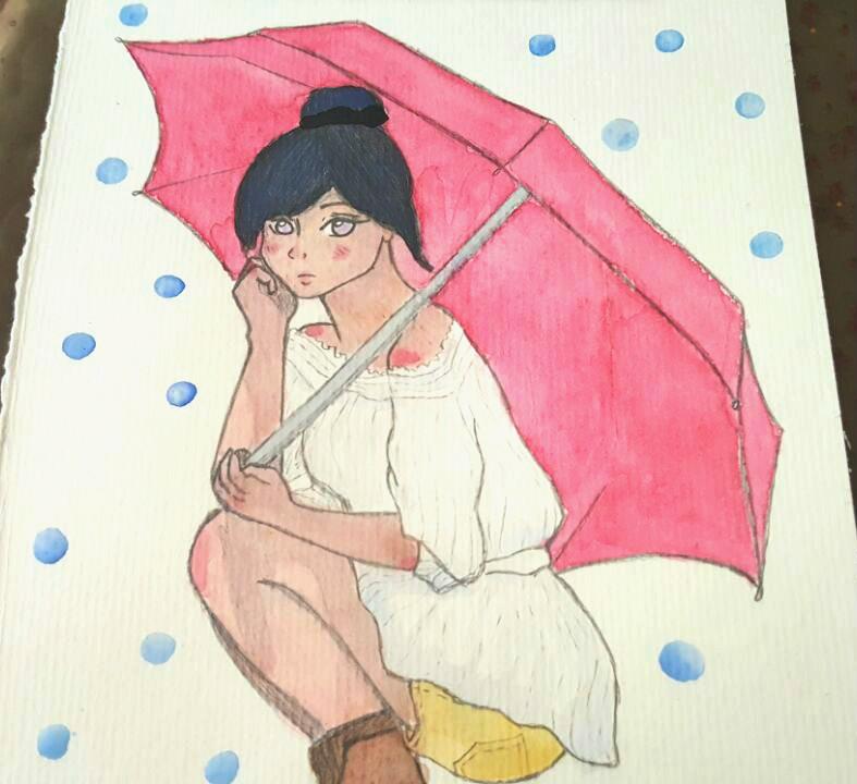 Hina-chan watercolour by brittypikiruxa