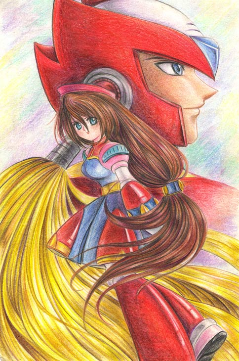 Rockman X-Zero and Iris by lucycat410