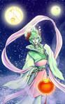 Goddess Moonracer colored