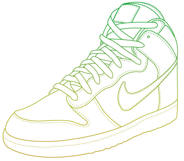 Nike Air Jordan Shoe Outline