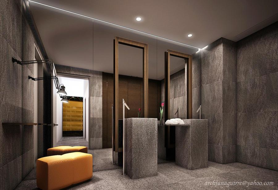 Restaurant 39 S Ladies Restroom By Archjun On Deviantart