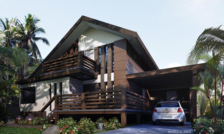 Residential House With Mezzanine Floor By Archjun On