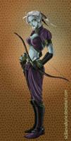 Dark Elf Ranger by SicilianValkyrie