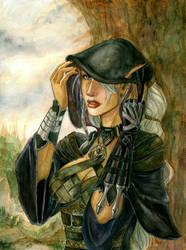 Dark Elf  Assassin by SicilianValkyrie