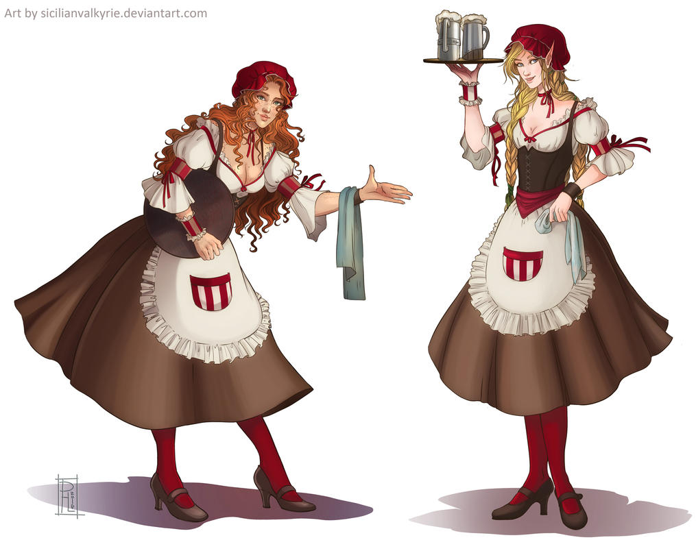 Comm: [WHA]  Tavern Maids by SicilianValkyrie