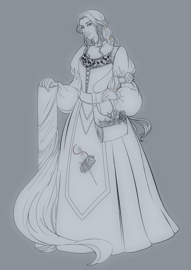 Comm: Lina the Seamstress by SicilianValkyrie