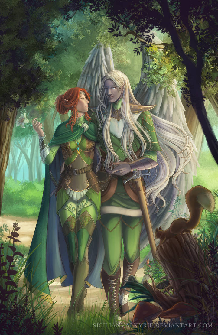 Comm: Mielikki and Loralon by SicilianValkyrie