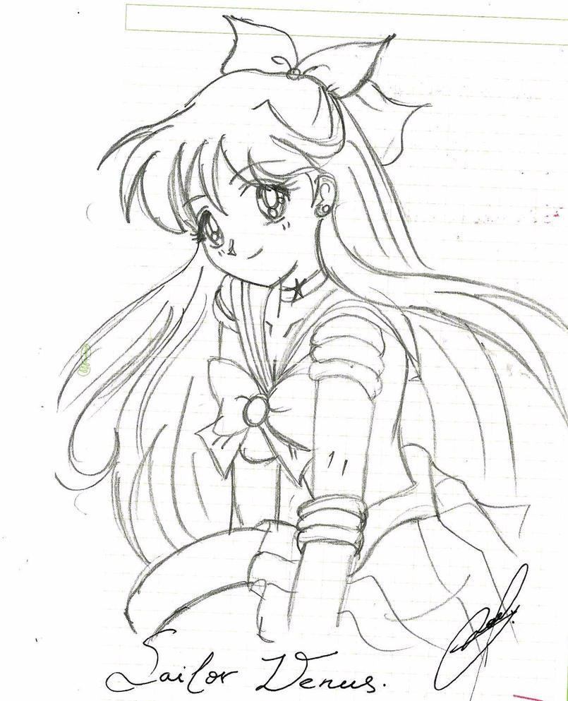 Sailor venus by naevyan on deviantart for Sailor venus coloring pages