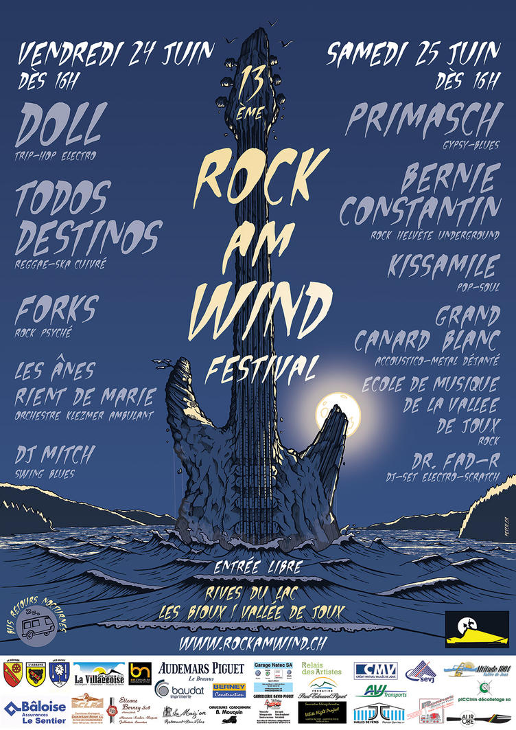 Poster Rock Am Wind by PE7CH