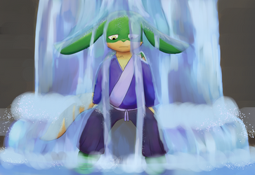 Waterfall by Woulvun