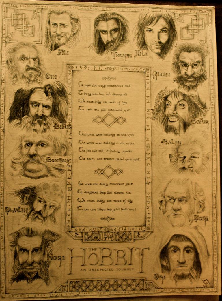 The Hobbit: Dwarves by Lysyth