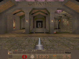 Quake - Start the Game - Screenshot by agentpalmer