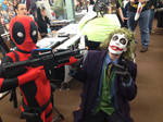 Deadpool catches the Joker at the Con