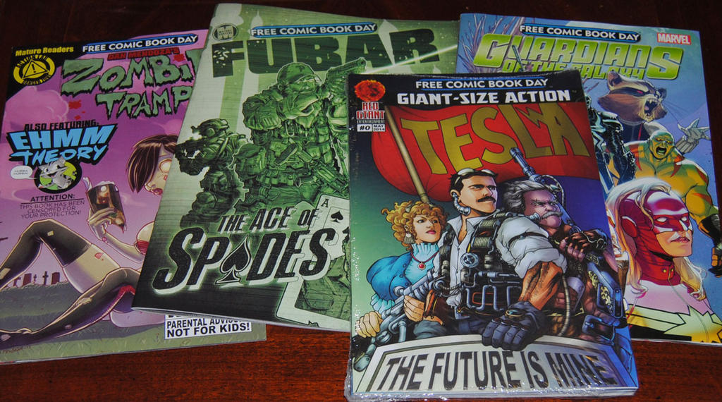 Four Comics from Free Comic Book Day by agentpalmer