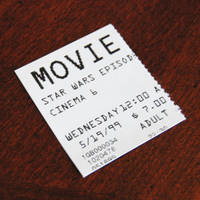 Star Wars Episode I - The Phantom Menace Ticket by agentpalmer