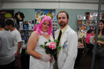 Archer's Dr. Krieger and his Virtual Wife Cosplay