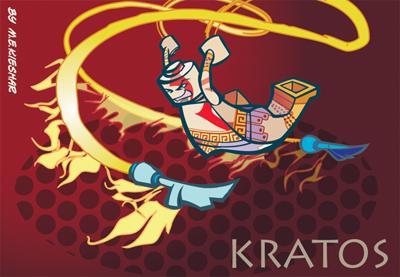 God of War-Kratos - badge art by Kieshar