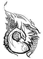 Pheonix tattoo design by Kieshar