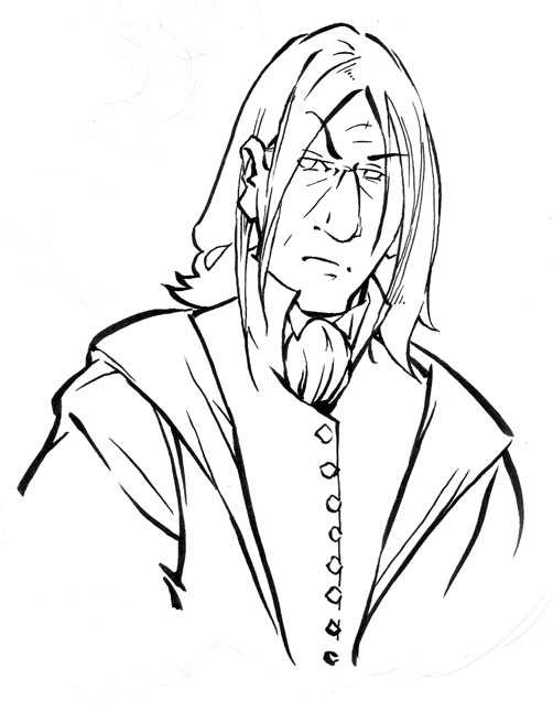 Professor Snape Coloring Pages