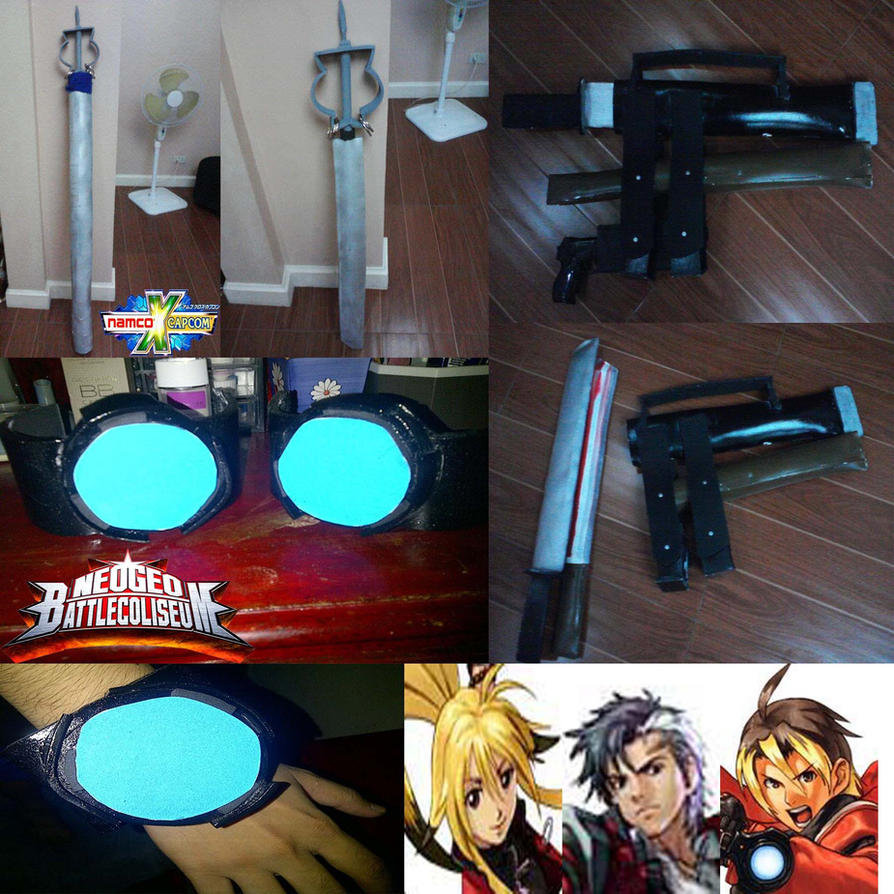 Reiji and xiaomu's  weapon and Yuki's WristBlaster by MoriRanmaru