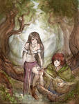 Kvothe and Denna - Name of wind