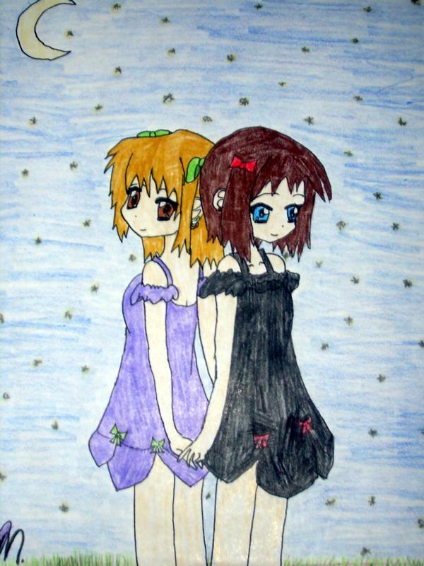 chibi: best friends forever by amjblove on DeviantArt