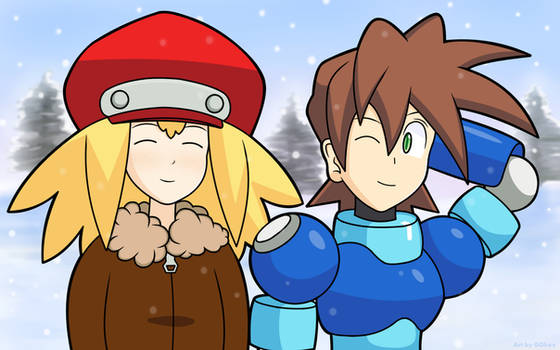 Megaman and Roll's Snowy Walk