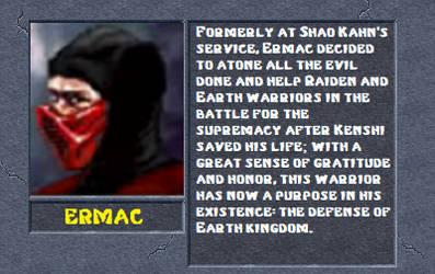 Ermac bio by MK2Ninjas