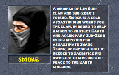 Smoke bio by MK2Ninjas