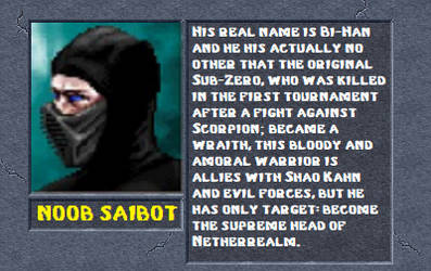 Noob saibot bio by MK2Ninjas
