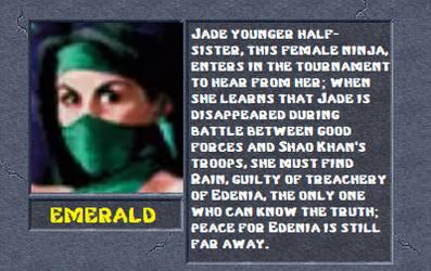 Emerald Bio by MK2Ninjas