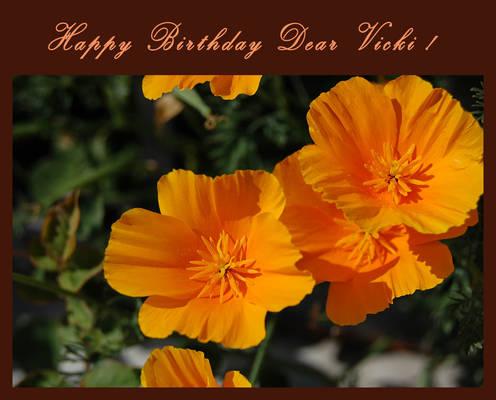 Happy Birthday Dear Vicky