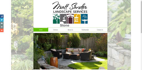 website design: Matt Sander Landscape Services by Stamps