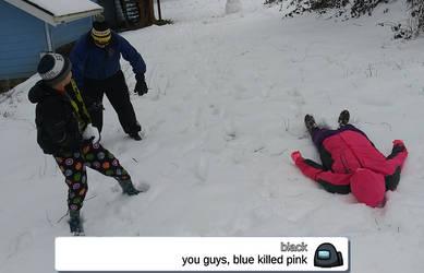 blue killed pink