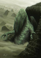 Cthulhu Rises by mikaelquites