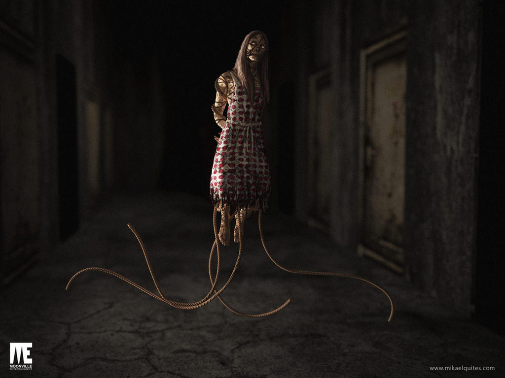 Woman Corridor Scene by mikaelquites