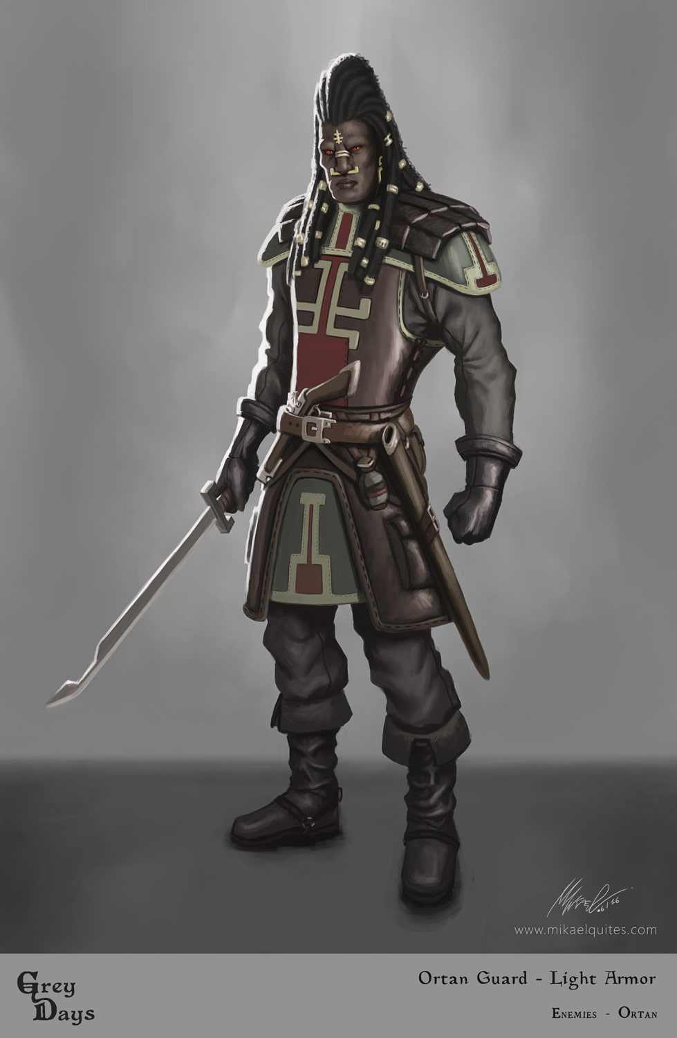 Grey Days - Ortan Guard Light Armor by mikaelquites