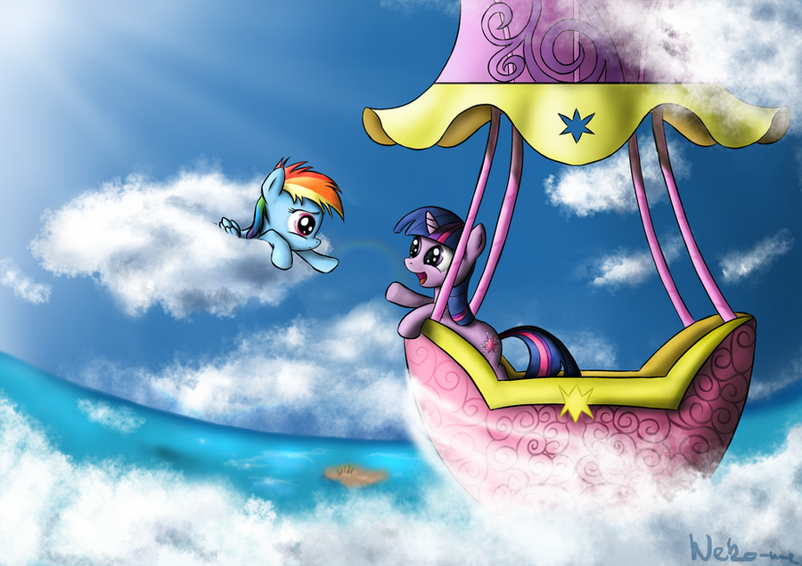 Dashie and Twilight by Neko-me