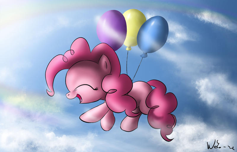 Pinkie and balloons (and ...) by Neko-me