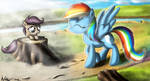 'The mare who colored my world' by Neko-me