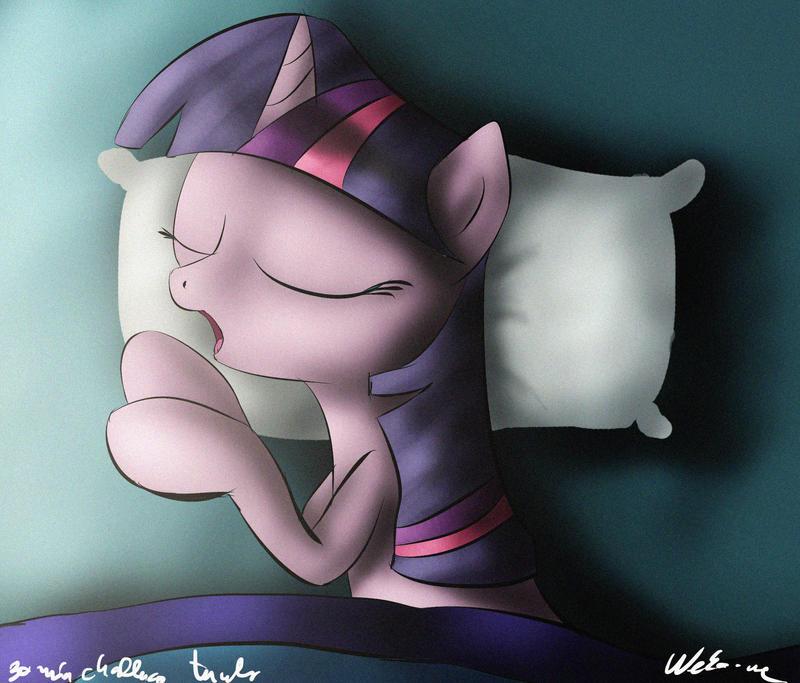 30min challenge - Twilight's beauty sleep by Neko-me