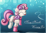Sweetie Belle wishes you a Merry Hearth's Warming
