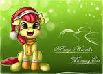Applebloom wishes you a Merry Hearth's Warming Eve
