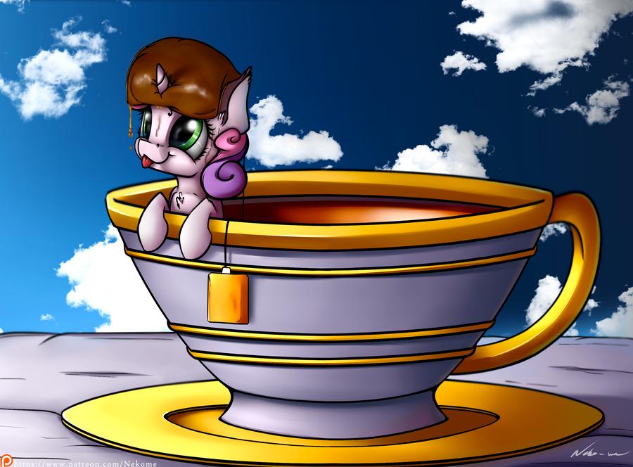 'Waiter, my tea is too swee ... eh never mind ...' by Neko-me