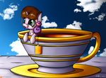 'Waiter, my tea is too swee ... eh never mind ...'