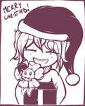 Flowey and Frisk wish a Merry Christmas
