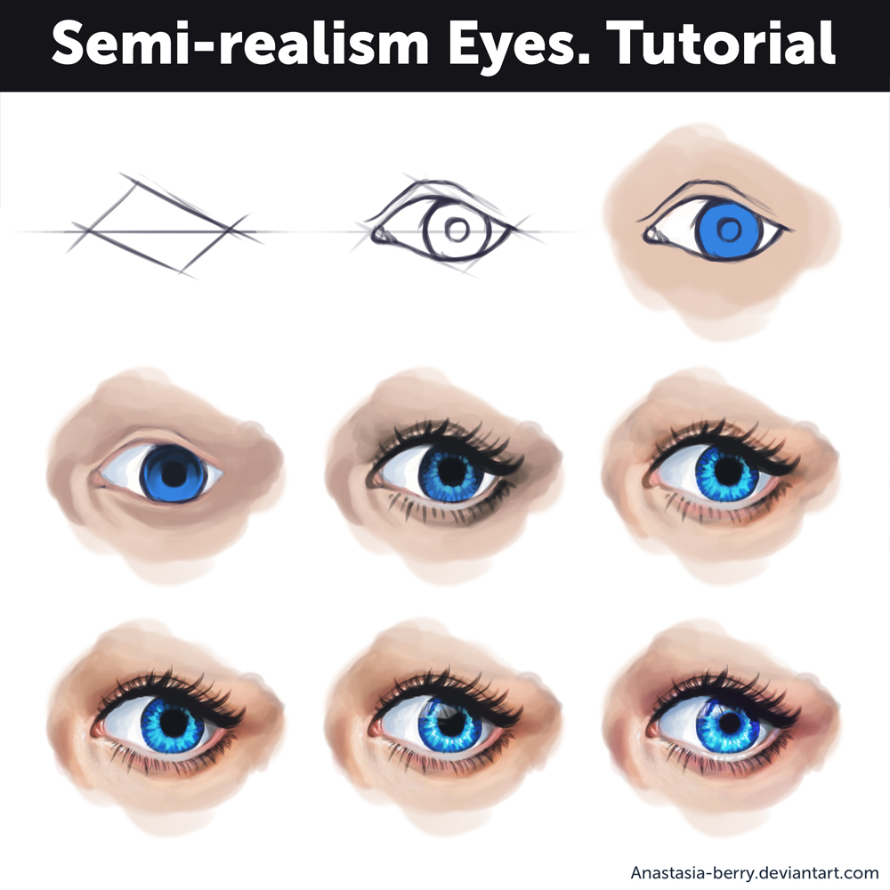Colouring sheets eyes - Isako23 24 0 Semi Realism Eyes Tutorial By Anastasia Berry